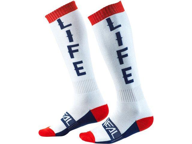 O'Neal Pro MX Chaussettes, moto life-white/red/blue